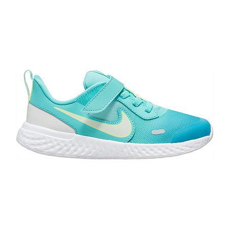 Nike Revolution 5 D2n Little Kids Girls Running Shoes, 1 Medium, Green