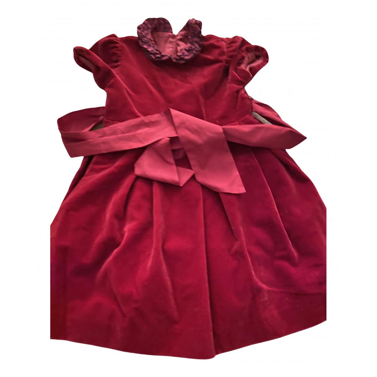 Il Gufo \N Kleid in  Bordeauxrot Samt