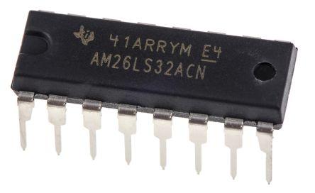 Texas Instruments AM26LS32ACN, Quad-RX Line Receiver, 5 V, 16-Pin PDIP (25)
