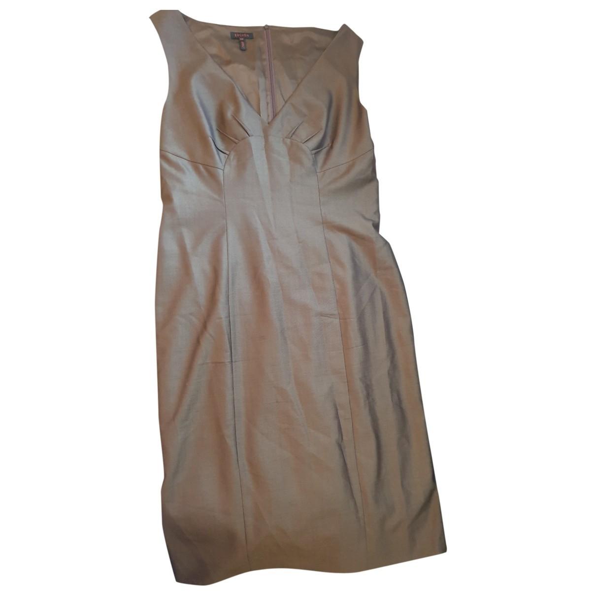Escada \N Kleid in  Beige Wolle