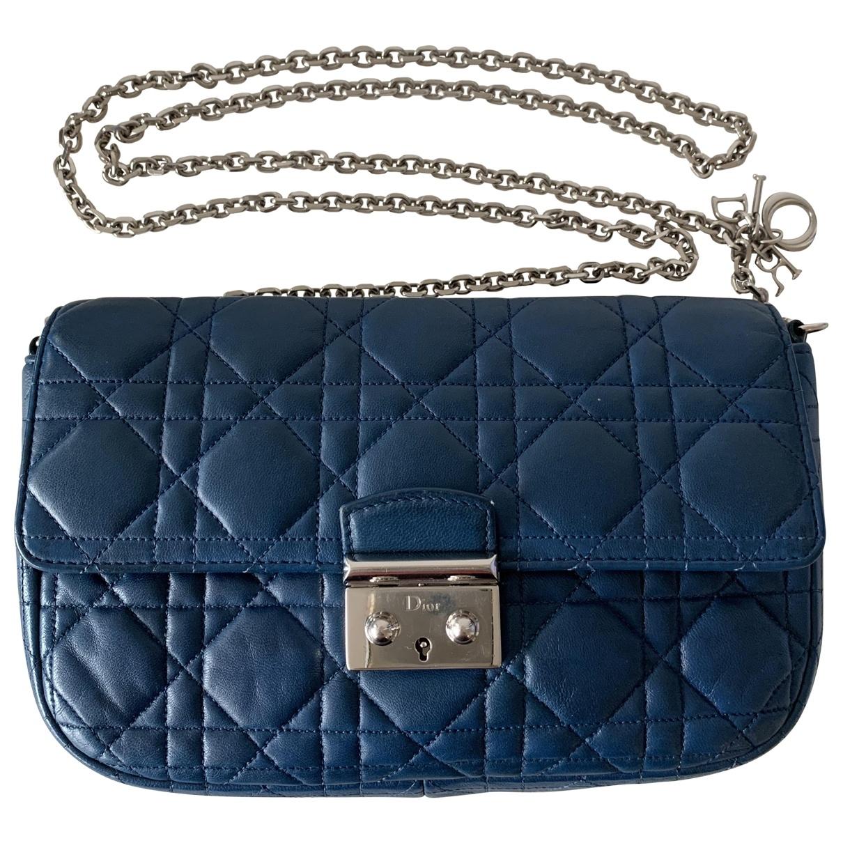 Dior Miss Dior Blue Leather handbag for Women \N