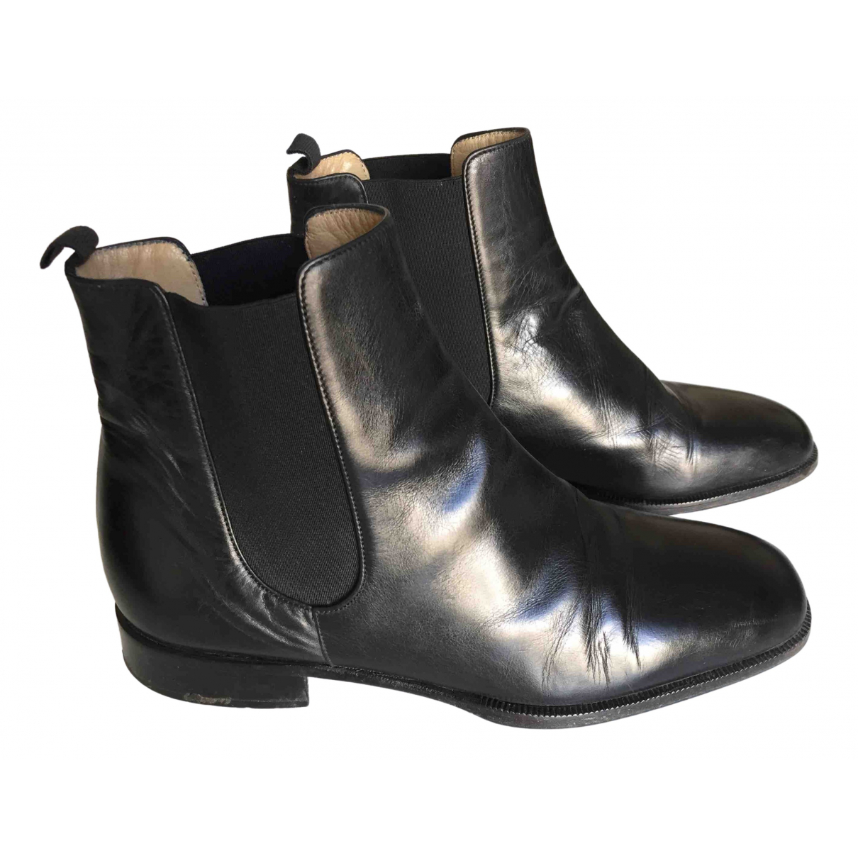 Carel \N Black Leather Boots for Women 38.5 EU