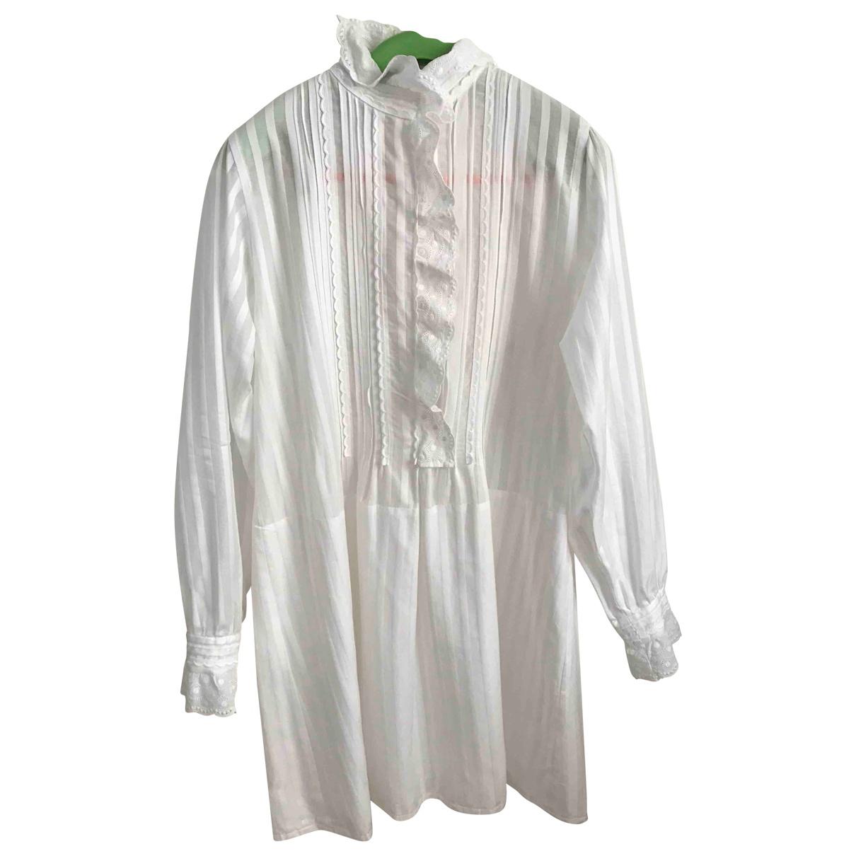 Sonia Rykiel \N Kleid in  Weiss Baumwolle