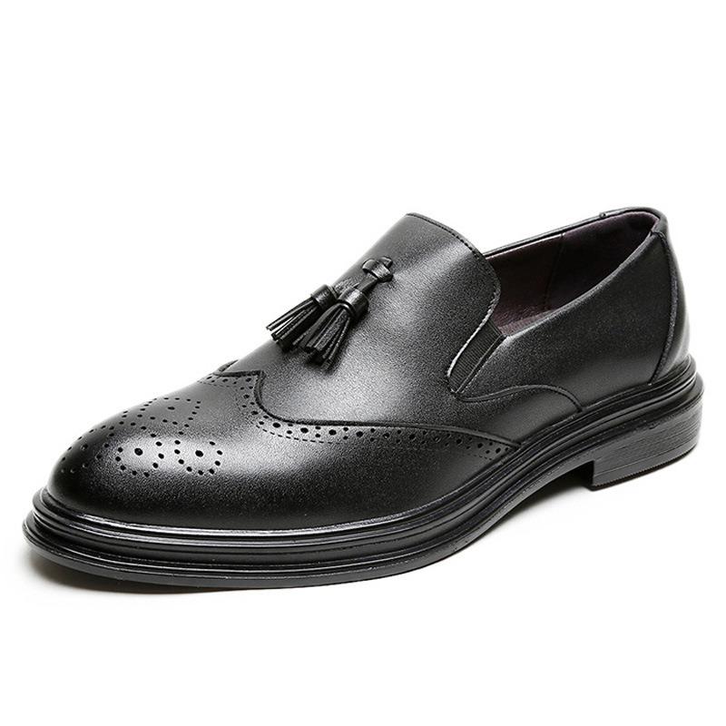 Ericdress Plain Low-Cut Upper PU Men's Leather Shoes