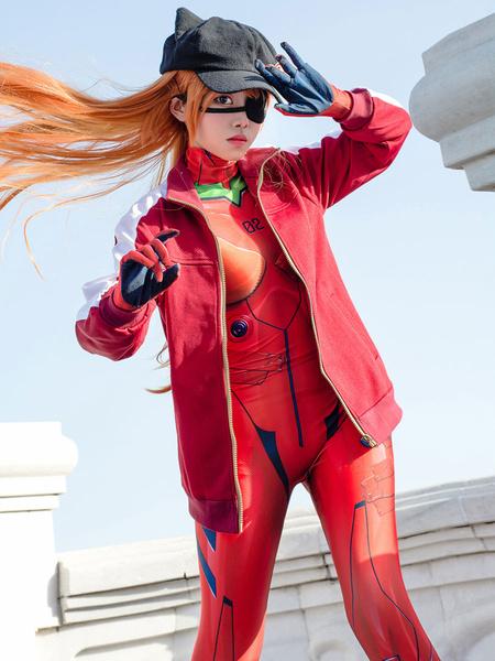 Milanoo EVA Neon Genesis Evangelion Asuka Langley Sohryu disfraz de Cosplay SOLO ABRIGO