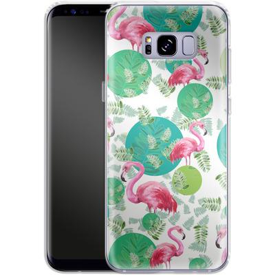 Samsung Galaxy S8 Plus Silikon Handyhuelle - Flamingo Land von Mukta Lata Barua