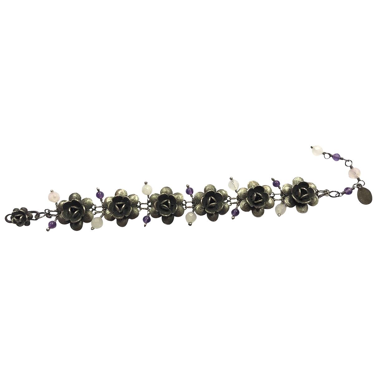 Yvone Christa \N Armband in  Lila Silber