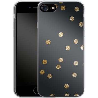 Apple iPhone 7 Silikon Handyhuelle - Gold Dots von Khristian Howell