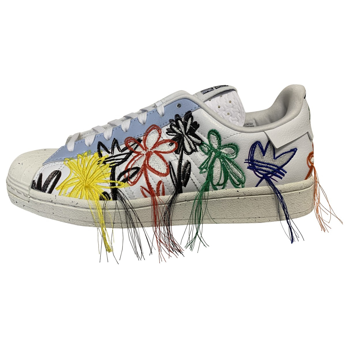 Adidas Superstar Multicolour Leather Trainers for Women 40.5 EU