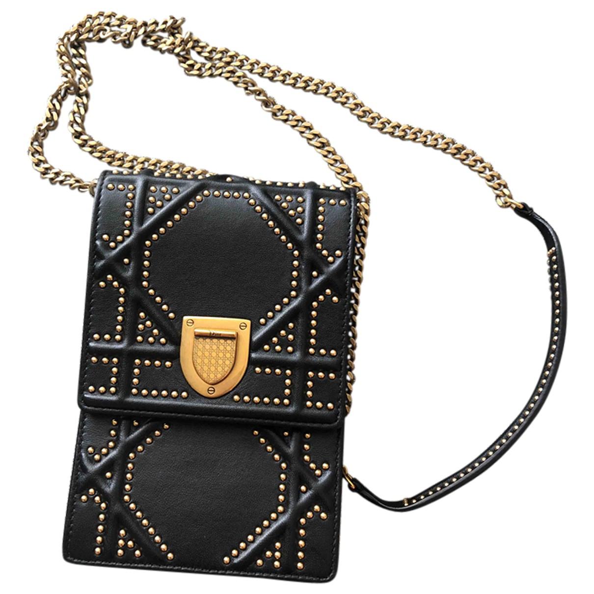 Dior Diorama Black Leather Clutch bag for Women N