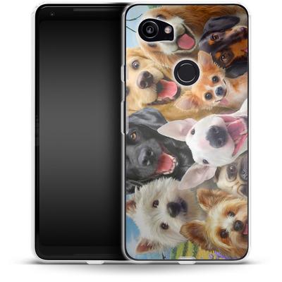 Google Pixel 2 XL Silikon Handyhuelle - Dogs Selfie von Howard Robinson