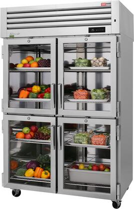 PRO-50-4R-GS-PT-N 52 Pro Series Glass and Solid Half Door Pass-Thru Refrigerator with 48.7 cu. ft. Capacity  Self-Cleaning Condenser  Digital