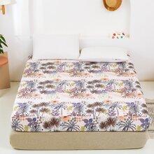 Bettuch mit Pflanzen Muster