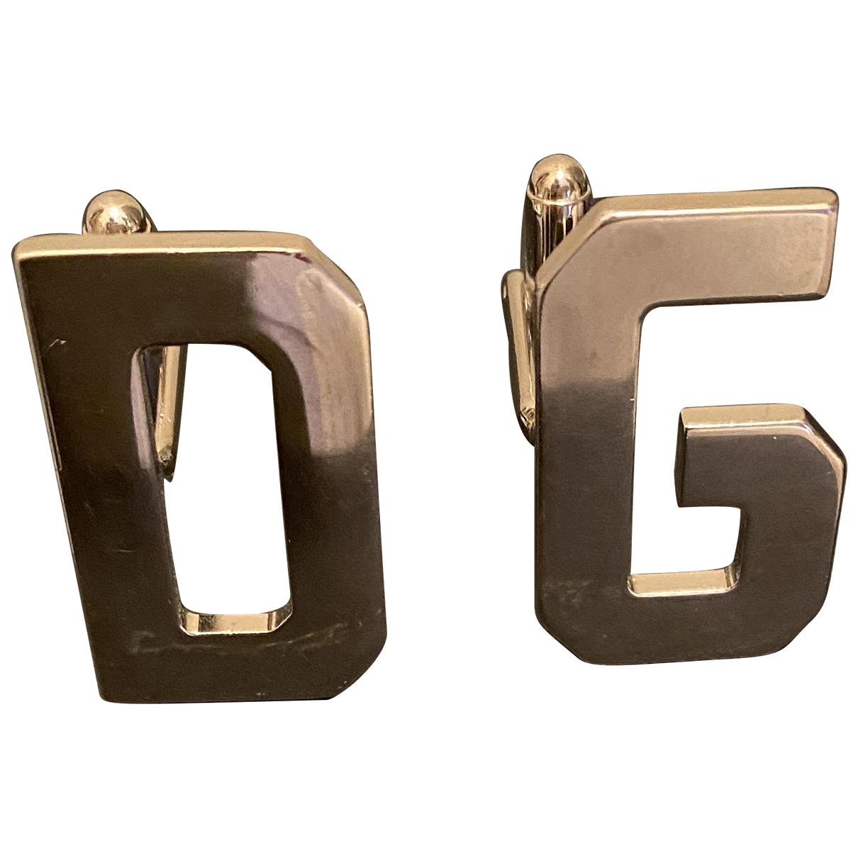 D&g - Boutons de manchette   pour homme en metal - argente