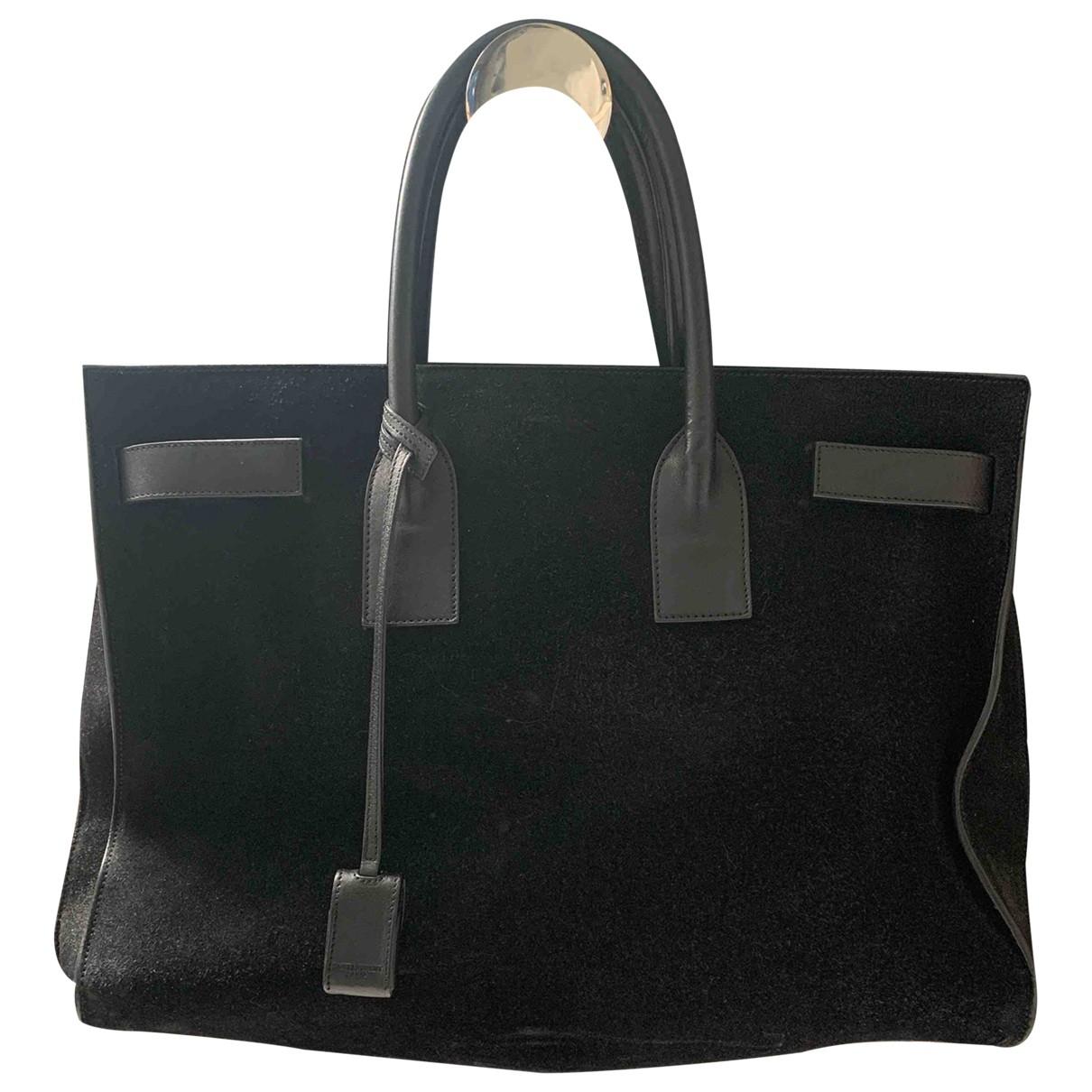 Saint Laurent Sac de Jour Black Suede handbag for Women \N