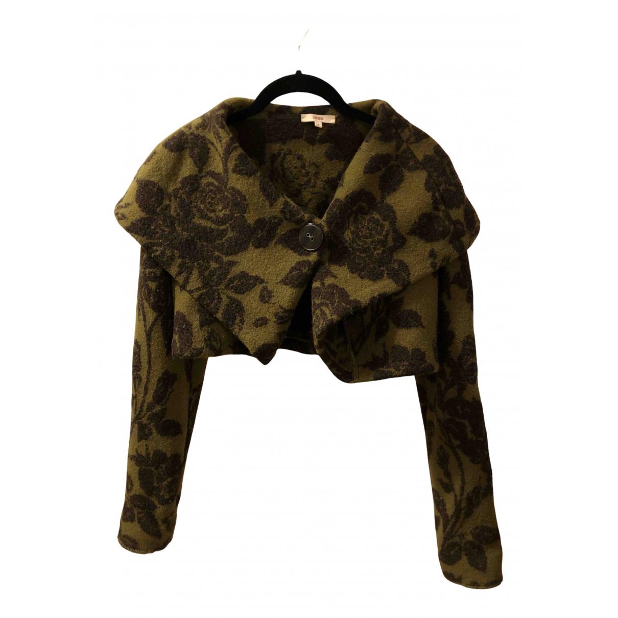 Kenzo - Pull   pour femme en laine - vert