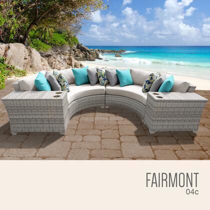 FAIRMONT-04c Fairmont 4 Piece Outdoor Wicker Patio Furniture Set 04c with 1 Cover in