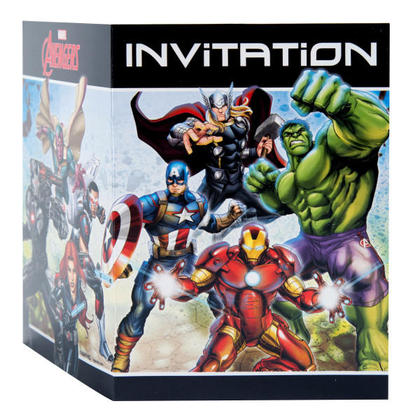 Avengers 8 Invitations For Birthday Party