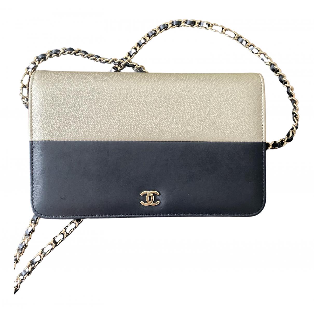 Chanel - Pochette Wallet on Chain pour femme en cuir - dore