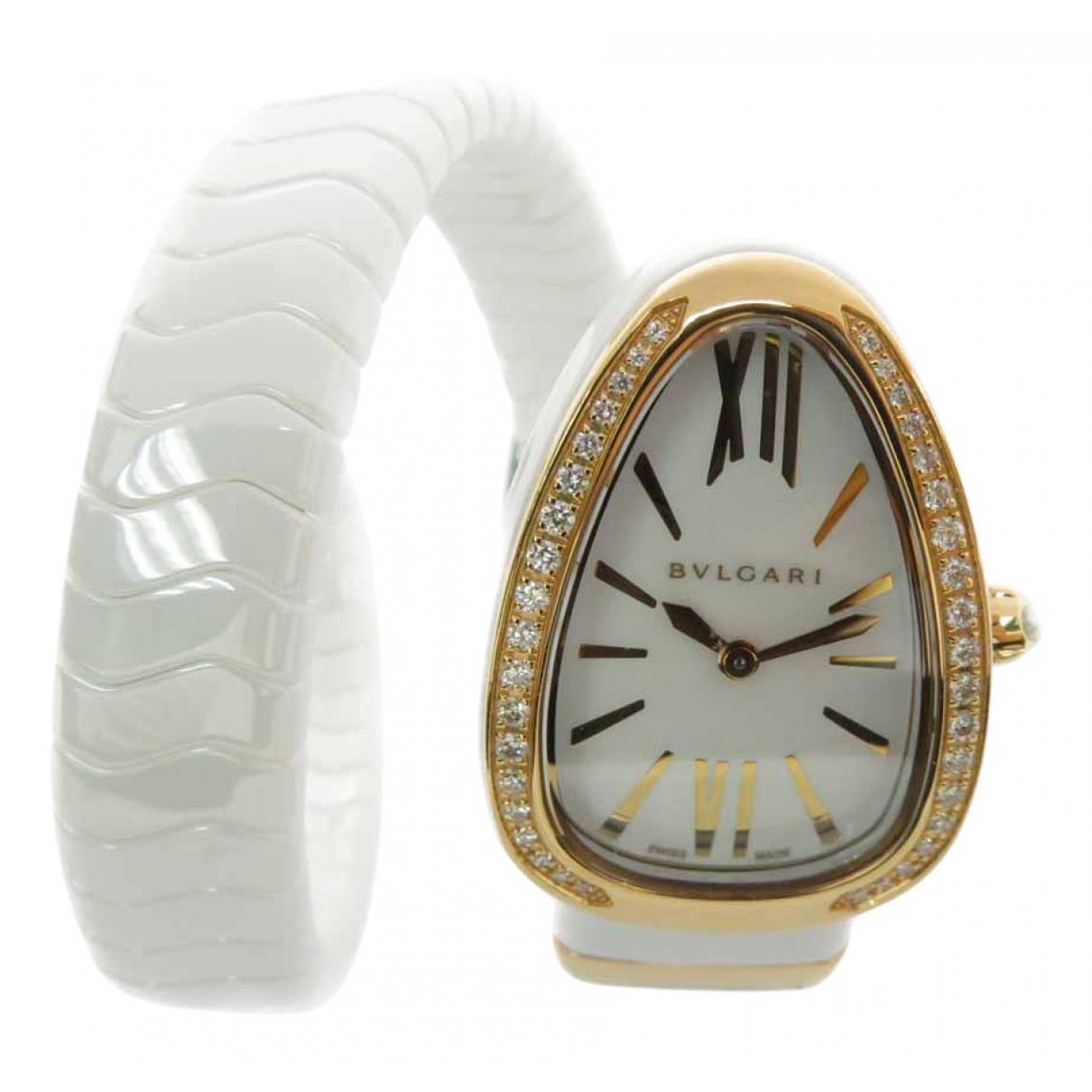 Bvlgari Serpenti White Ceramic watch for Women \N