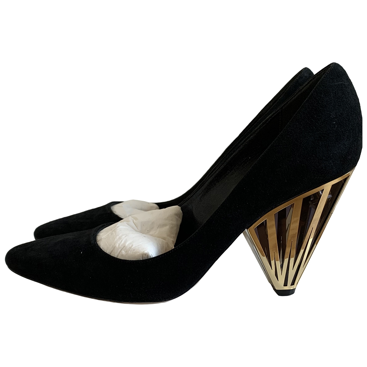Nicholas Kirkwood \N Black Suede Heels for Women 38 EU