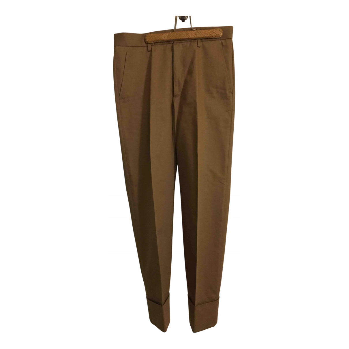 Gucci N Camel Cotton Trousers for Women 44 IT