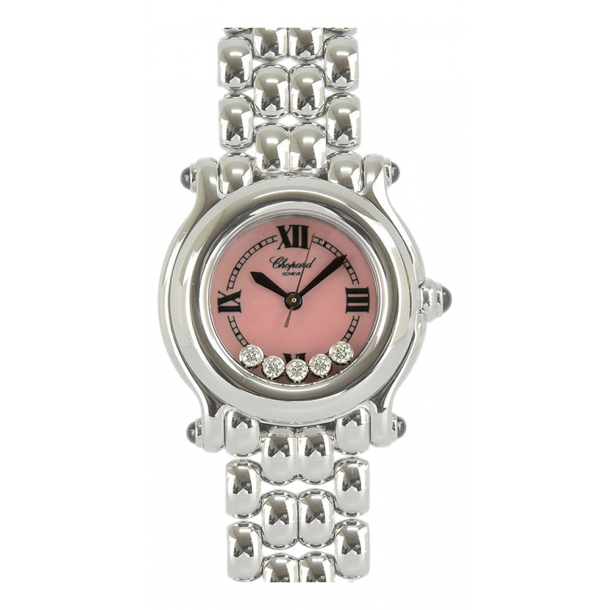 Chopard Happy Sport Uhr in  Rosa Stahl