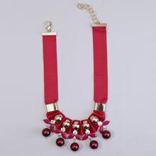 Halskette mit Strass & Edelstein Dekor