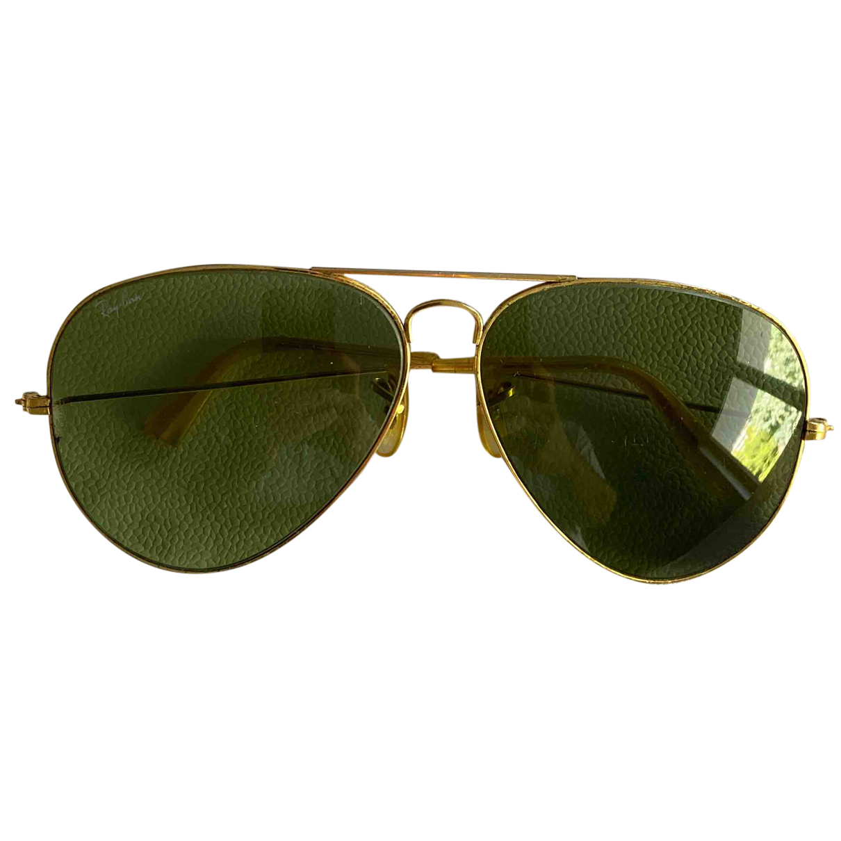 Ray-ban Aviator Gold Metal Sunglasses for Men N