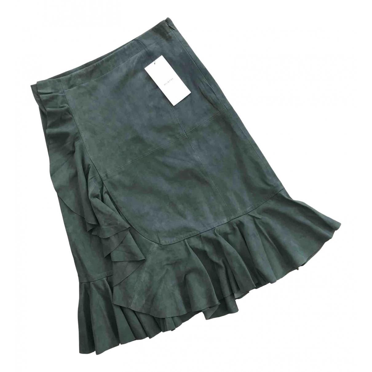 Munthe - Jupe   pour femme en suede - vert