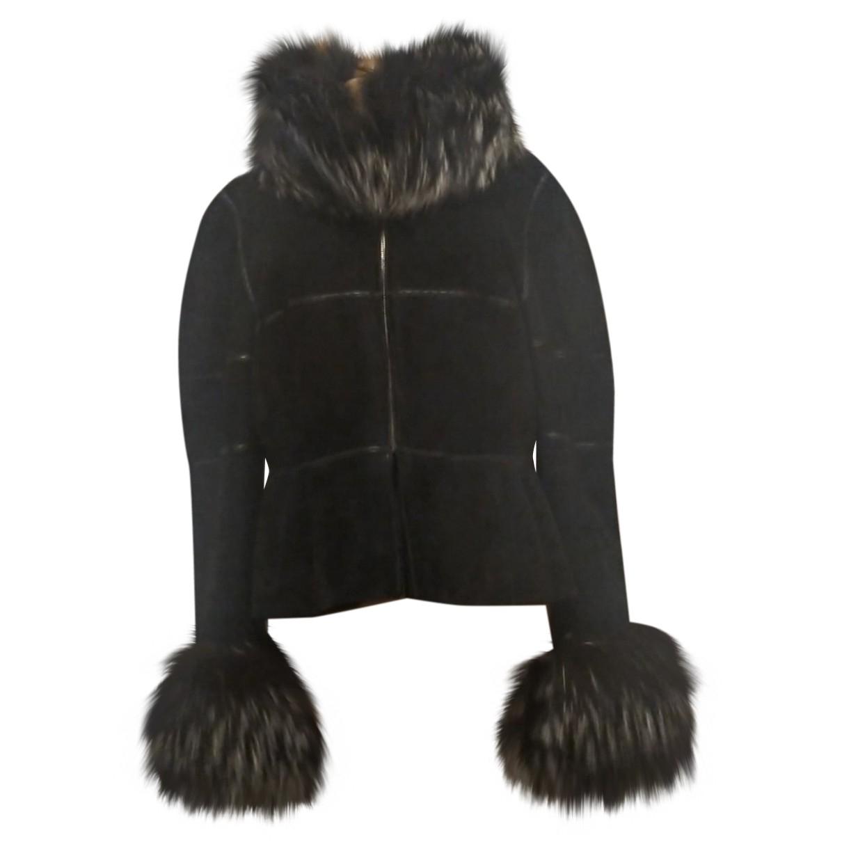 Fendi - Veste   pour femme en renard - noir