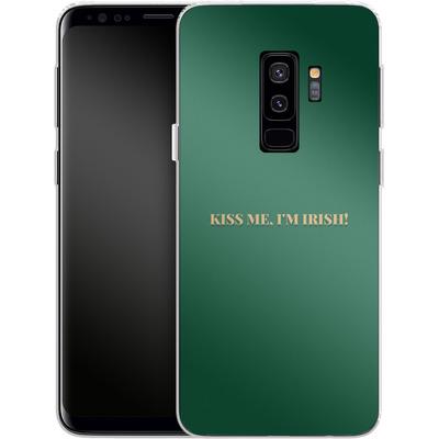 Samsung Galaxy S9 Plus Silikon Handyhuelle - Kiss Me Im Irish von caseable Designs