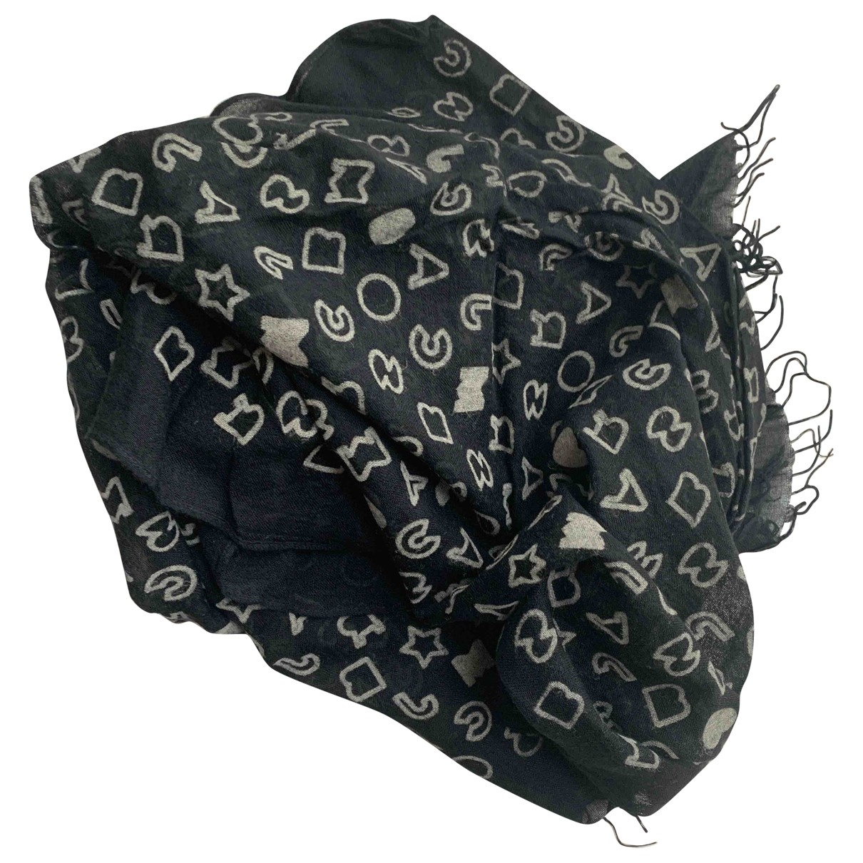 Marc By Marc Jacobs \N Black Cotton scarf for Women \N