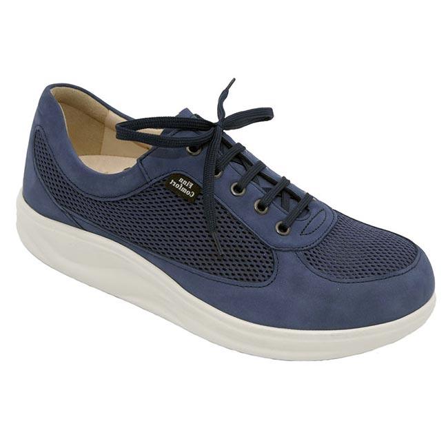 Finn Comfort Columbia Denim Leather Soft Footbed 7 Uk