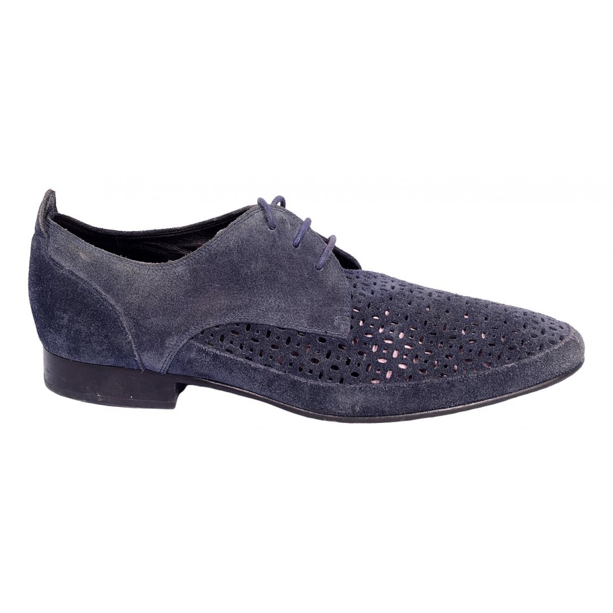Pierre Balmain \N Blue Cloth Lace ups for Men 42 EU