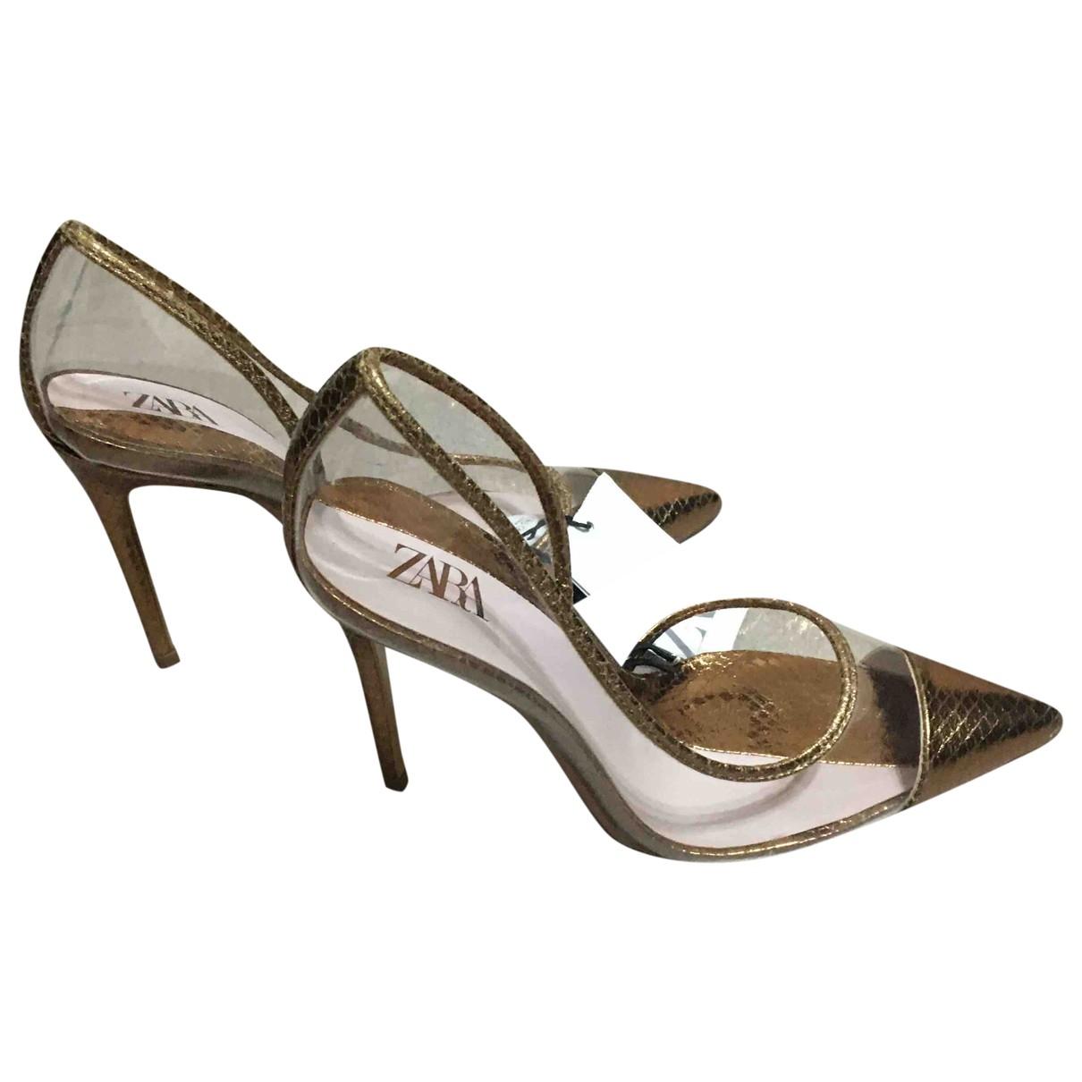 Zara - Escarpins   pour femme - dore