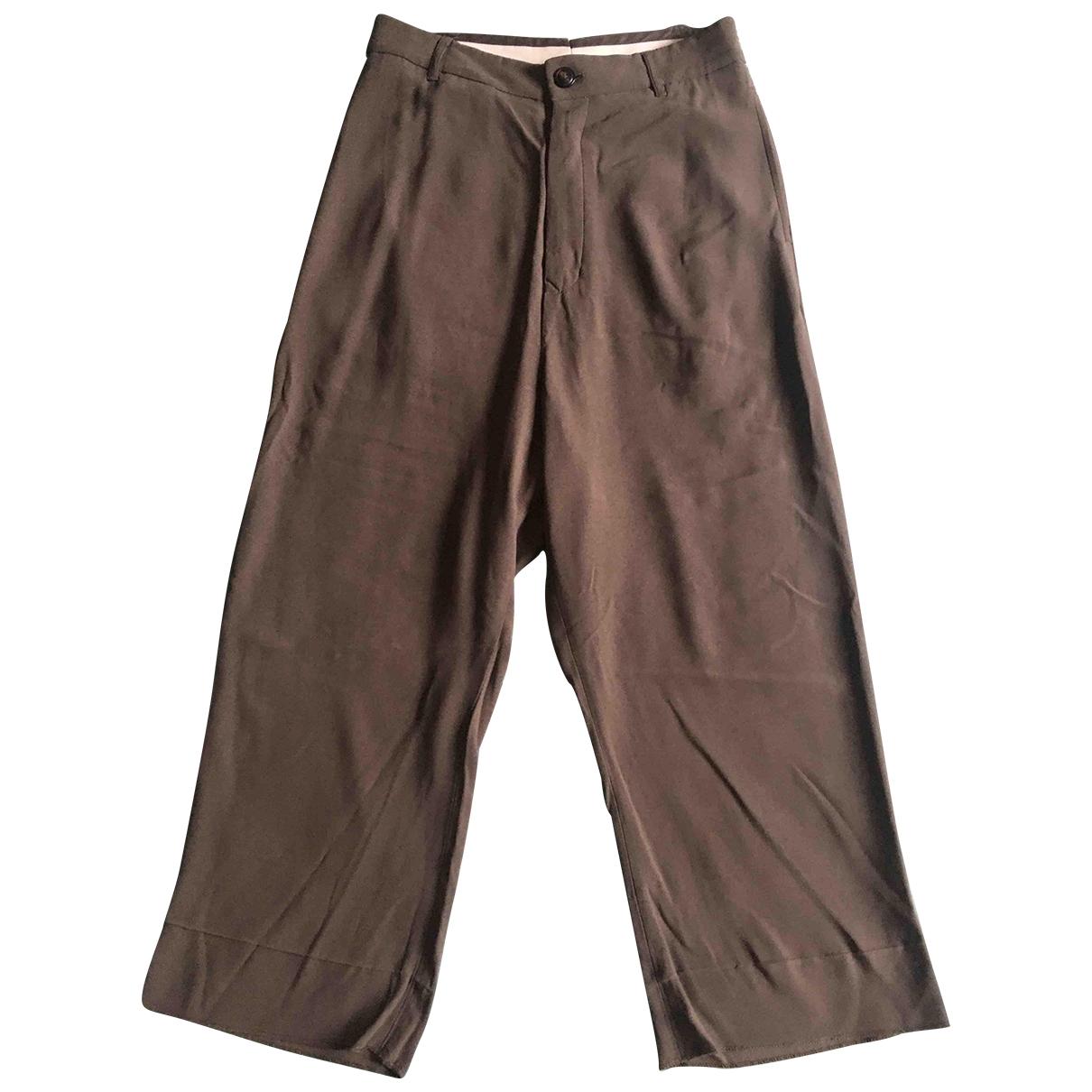 Rick Owens - Pantalon   pour femme en soie - anthracite