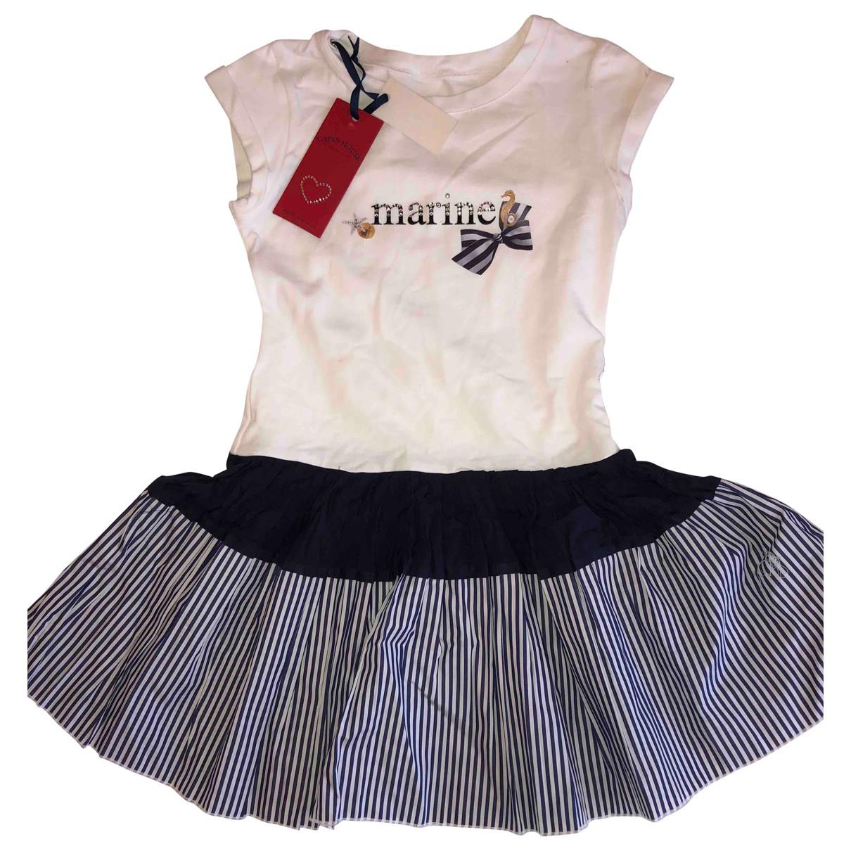 Lapin House - Robe    pour enfant en coton - blanc