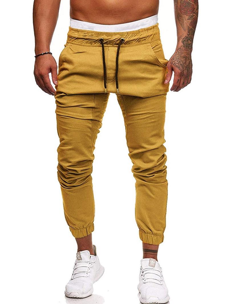 Ericdress Lace-Up Plain Lace-Up Men's Casual Pants