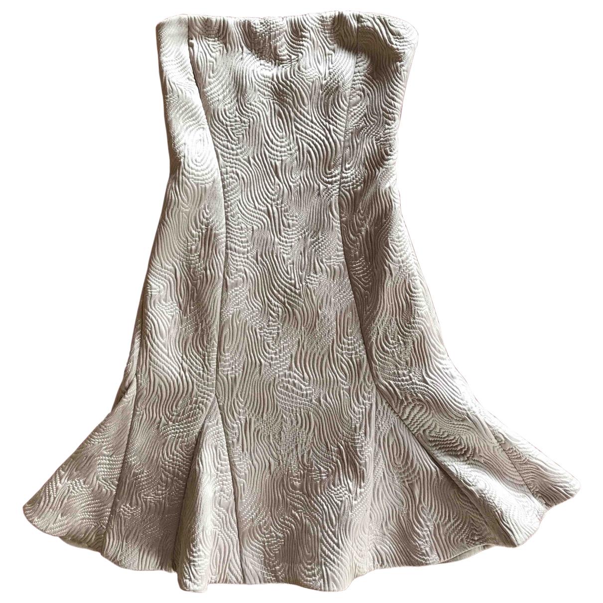 Patrizia Pepe \N Ecru dress for Women 38 IT