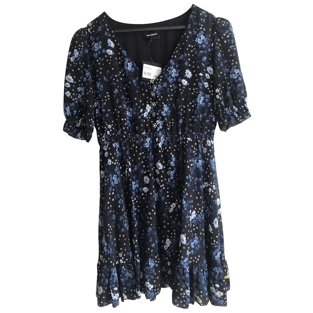 The Kooples \N Kleid in  Blau Seide