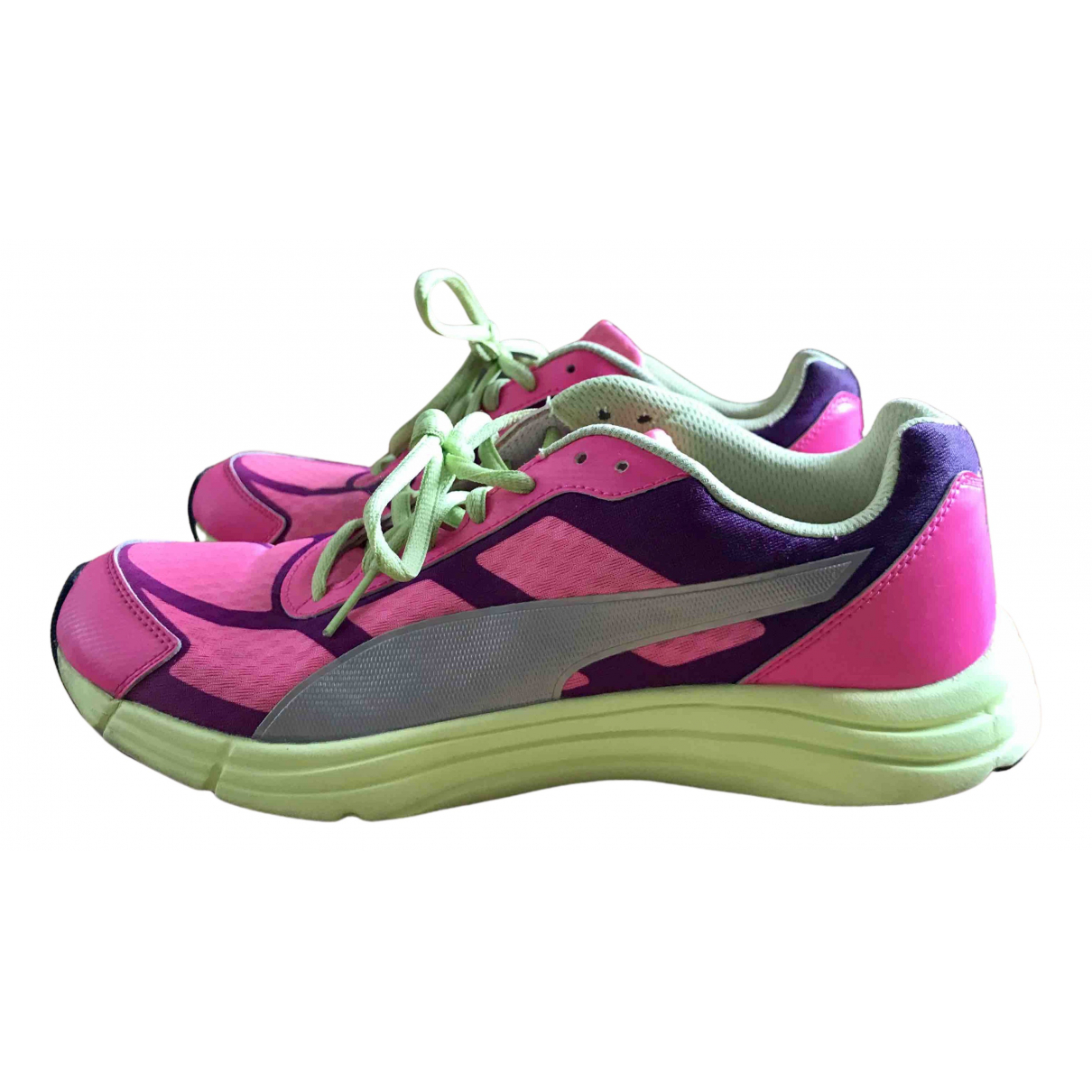 Puma N Pink Rubber Trainers for Women 38 EU
