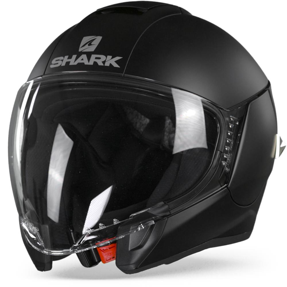 Shark Citycruiser Blank Casco Jet Mate Negro M