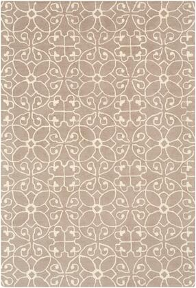 Scott SCT-1012 6' x 9' Rectangle Cottage Rug in Taupe