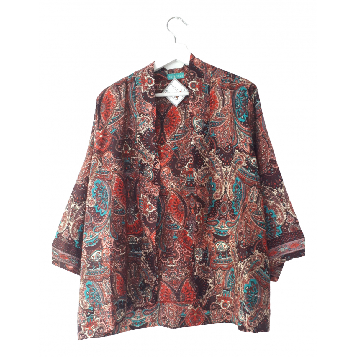 Non Signé / Unsigned \N Brown Silk jacket for Women One Size International