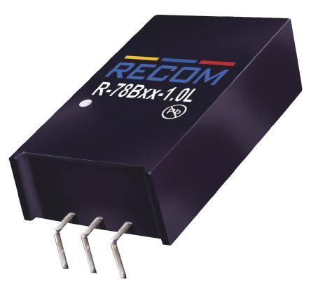 Recom Through Hole Switching Regulator, 15V dc Output Voltage, 20 → 32V dc Input Voltage, 1A Output Current