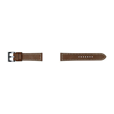 Samsung Galaxy 46mm Compatible Mens Brown Leather Watch Band-Gp-R765breeeab, One Size , No Color Family