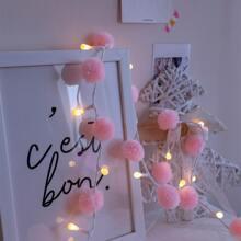 20 piezas luz de cuerda con bombilla de pompon