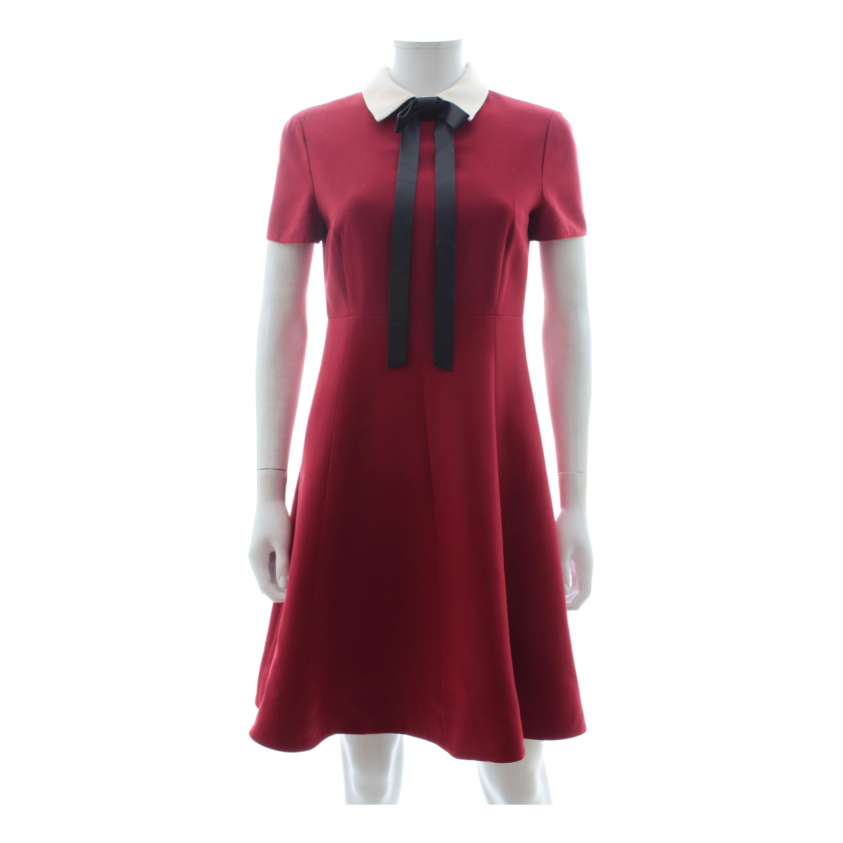 Valentino Garavani \N Red Wool dress for Women 42 IT