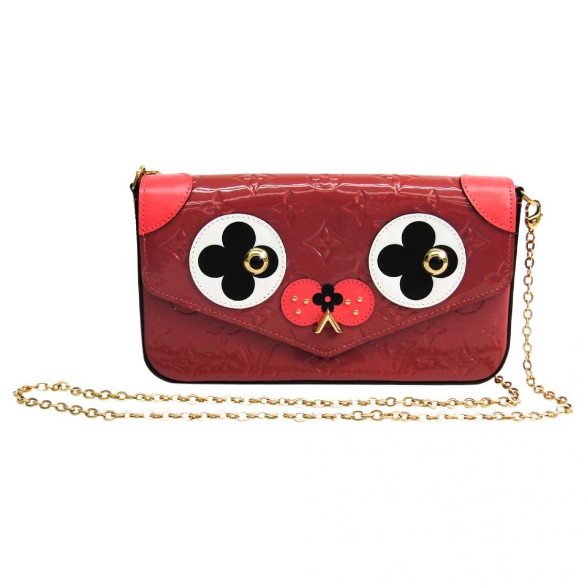 Louis Vuitton \N Handtasche in  Rosa Lackleder